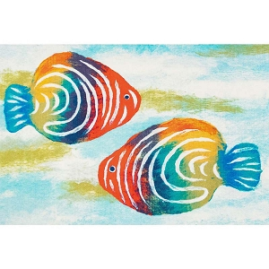 TransOcean Illusions 3271/12 Rainbow Fish Pearl Rug